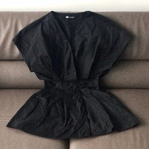 Zara Black V Neck Dress